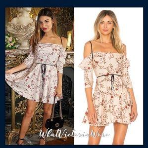 Nwt L + F Victoria justice Cindy floral dress xs